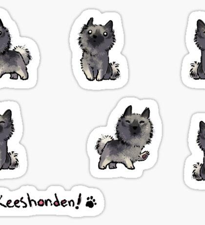Keeshond - Pup, Purple Sticker