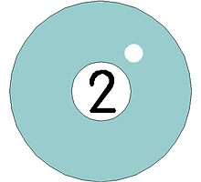 Blue Two Ball by kwg2200