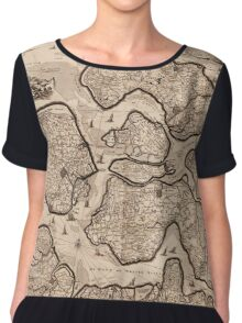 Map Of Netherlands 1687 Chiffon Top
