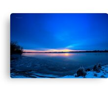 Near Winter Solstice Sunrise (HDR) Canvas Print