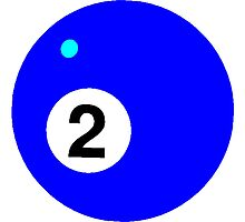 Blue Two Pool Ball by kwg2200