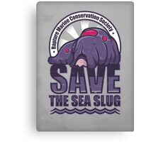Save the Sea Slug Canvas Print