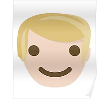 "Donald ""The Emoji"" Trump Happy Smiling Face Poster"