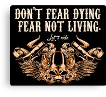 Motorcycle Stickers and T-shirts  Canvas Print