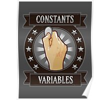 Constants & Variables Poster