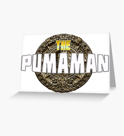 The Pumaman - Movie T-Shirt Greeting Card