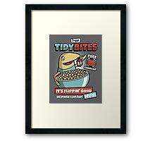 Proper Tidy Bites Framed Print