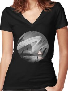 Inkworld T-shirt femme moulant col V