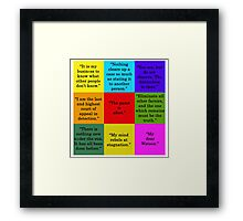 Sherlock Holmes Quotes Framed Print