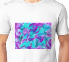 blue pink and purple painting texture abstract background Unisex T-Shirt