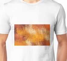 brown and orange flowers abstract background Unisex T-Shirt