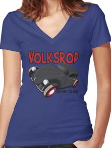 Volksrod VW Beetle Women's Fitted V-Neck T-Shirt