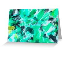 green blue yellow and black painting texture abstract background Greeting Card