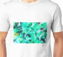 green blue yellow and black painting texture abstract background Unisex T-Shirt