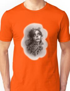 Day of the Dead Girl Black and White Pencil Sketch T-Shirt Unisex T-Shirt