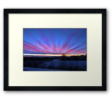 I Miss The Sunsets Of Alberta Framed Print