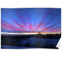 I Miss The Sunsets Of Alberta Poster