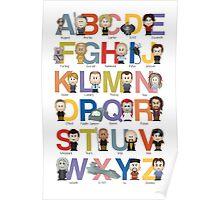 Through the Wormhole Alphabet Poster