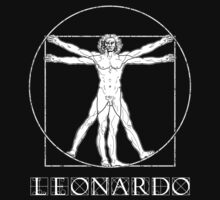 The Vitruvian Man - Leonardo da Vinci - Italian Renaissance (TEXT) by James Ferguson - Darkinc1