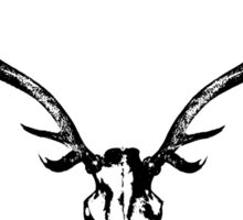 Red Stag Skull And Antlers Sticker
