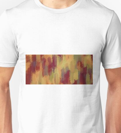 red orange and green painting texture abstract background Unisex T-Shirt
