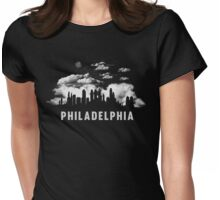 Philadelphia Pennsylvania Skyline CityScape Womens Fitted T-Shirt