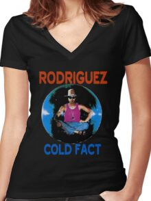 Sixto Rodriguez Women's Fitted V-Neck T-Shirt