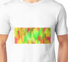 yellow red and green painting texture abstract background Unisex T-Shirt