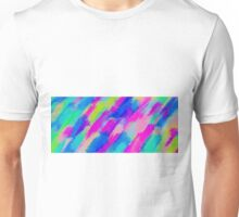 blue pink yellow and purple painting texture abstract background Unisex T-Shirt