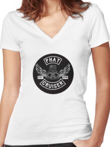 Phat Cruiser - Your Friendly Illawarra Motovlogger Women's Fitted V-Neck T-Shirt