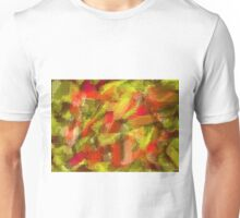 red yellow and brown painting texture abstract background Unisex T-Shirt