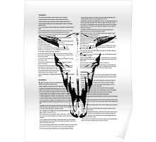 Cow Skull On Text Poster
