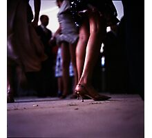 Young lady dancing in Spanish wedding party dance Hasselblad  analog film still life photo Photographic Print