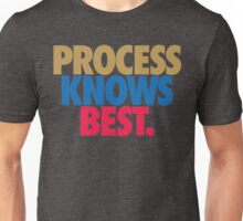 Process Knows Best. (GOLD/BLUE/RED) Unisex T-Shirt