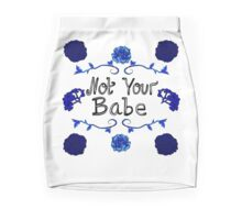 Pretty Blue Floral Not Your Babe Print Mini Skirt