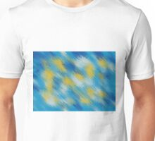 blue and yellow painting texture abstract background Unisex T-Shirt