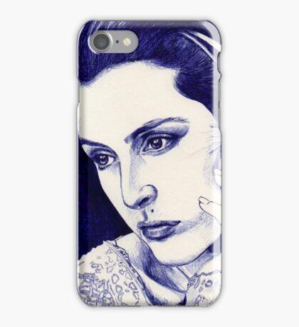 Gillian Anderson ballpoint iPhone Case/Skin