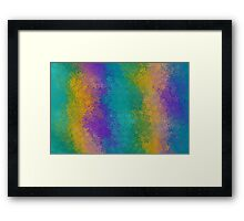 green yellow and purple flowers abstract background Framed Print