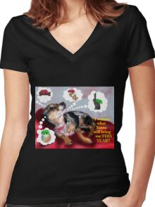 Christmas Longings Women's Fitted V-Neck T-Shirt