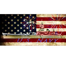 red white blue navy Photographic Print