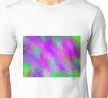 purple pink and green flowers abstract background Unisex T-Shirt