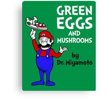 Green Eggs and Mushrooms Canvas Print