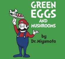 Green Eggs and Mushrooms Baby Tee