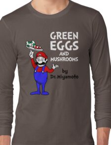 Green Eggs and Mushrooms Long Sleeve T-Shirt