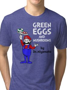 Green Eggs and Mushrooms Tri-blend T-Shirt