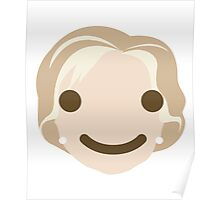 "Hillary ""The Emoji"" Clinton Happy Smiling Face Poster"