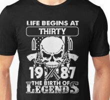 1987 the birth of legends gift shirt Unisex T-Shirt