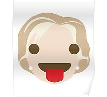 "Hillary ""The Emoji"" Clinton Tongue Out Poster"
