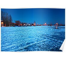 Frozened Bay, Lake Deschenes Poster