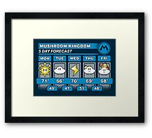 Mushroom Kingdom 5 Day Weather Forecast Framed Print